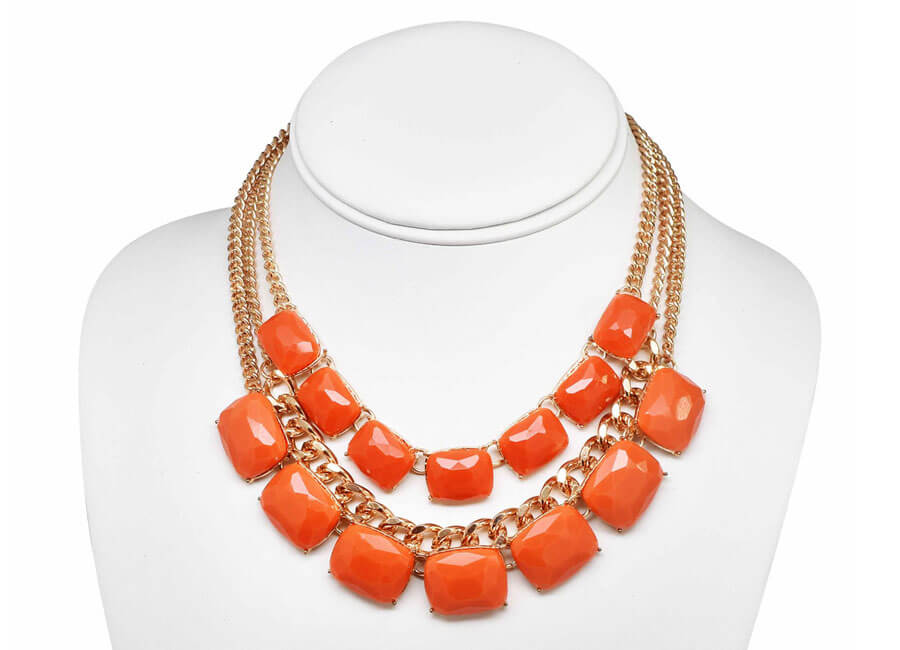 Jewelry photographer samples - Orange statement necklace