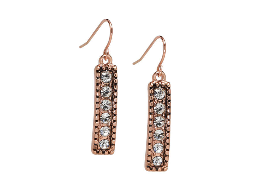 Jewelry photographer samples - Copper and cubic zirconia earrings