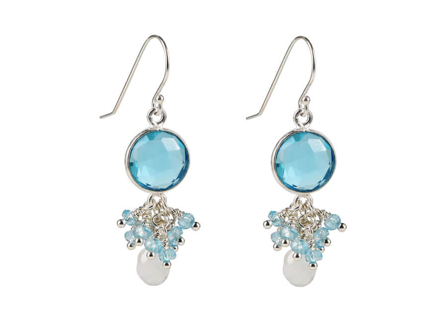 Jewelry photographer samples - Aquamarine gemstone earrings